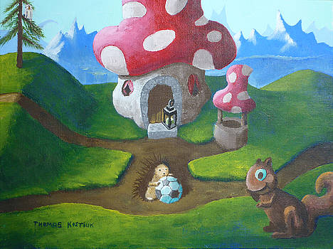 Thomas Olsen - Mushroom house with hedgehog