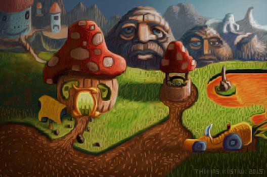 Thomas Olsen - Mushroom Landscape 9 OIL