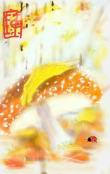 Mushroom  On Forest Floor  by Debbi Saccomanno Chan
