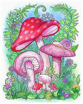 Mushroom Wonderland by Jennifer Allison