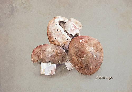 Mushrooms by Arline Wagner