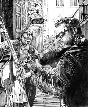 Music Caffe in the Street by Mike Massengale