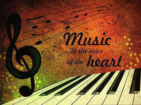 Music is the voice of the heart by Gabi Siebenhuehner
