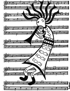 Music Man Kokopelli by Susie WEBER