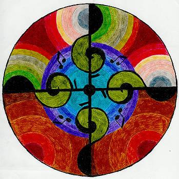 Music Mandala by Aileen Heymach