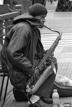 Music  on the streets- saxo                    by Hugh Peralta