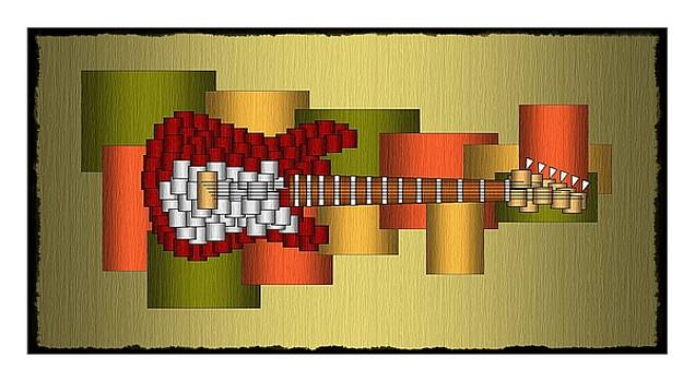 Music Series Horizontal Guitar Abstract by Terry Mulligan