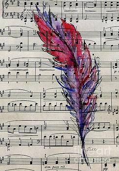 Musical Feather by Tracey Lee Cassin
