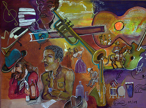 musical instruments II western flair by Everna Taylor