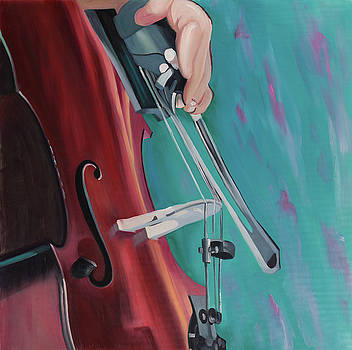 Musicien with Cello by Atelier B Art Studio