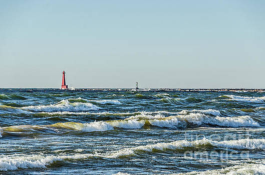 Muskegon South Breakwater Light by Sue Smith