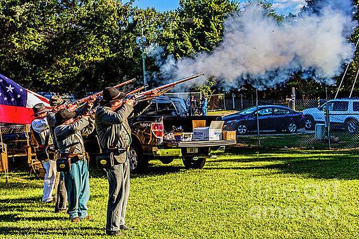 Musket Firing 5117T by Doug Berry
