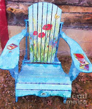 Muskoka Chair with Flowers by Claire Bull