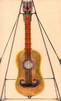 Mustache Guitar by Paul Kaplita