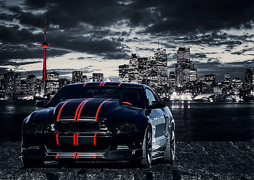 Mustang in the City by Amanda Struz