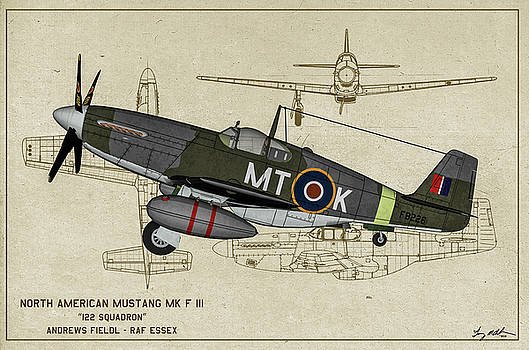 Mustang Mk F III - Profile Art by Tommy Anderson
