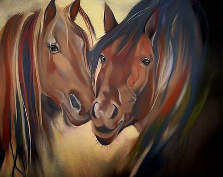 Mustangs by Marika Evanson