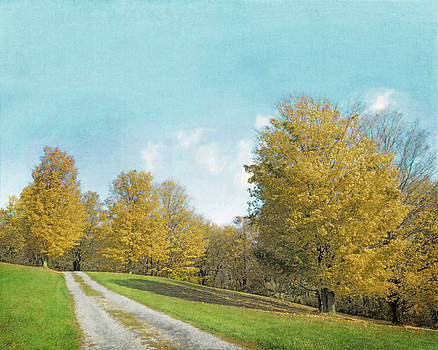 Mustard Yellow Trees and Landscape by Brooke T Ryan