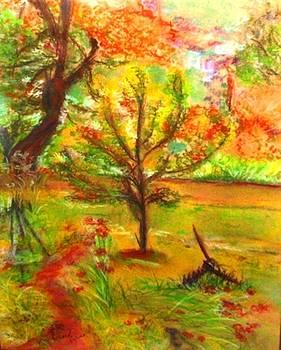 My Art Teacher's Crab Apple Tree by Helena Bebirian
