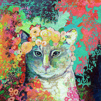 My Cat Naps in a Bed of Roses by Jennifer Lommers