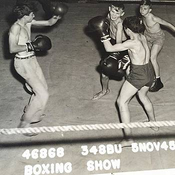 My Dad Boxing 1945! My Great Uncle Is by Gin Young