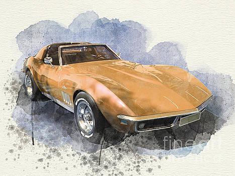 Orange Dream Car by Barbara Dudzinska