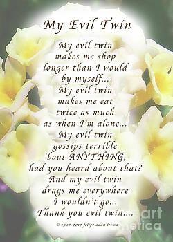 Felipe Adan Lerma - My Evil Twin Greeting Card and Poster