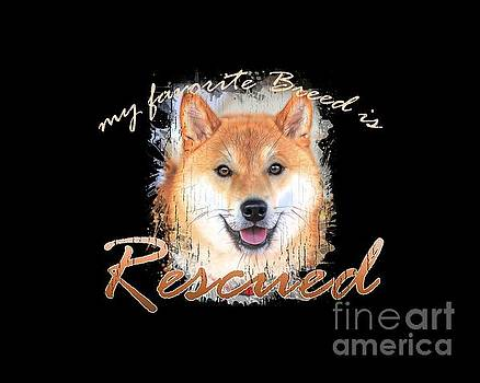 My favorite breed is rescued Watercolor 4 by Tim Wemple