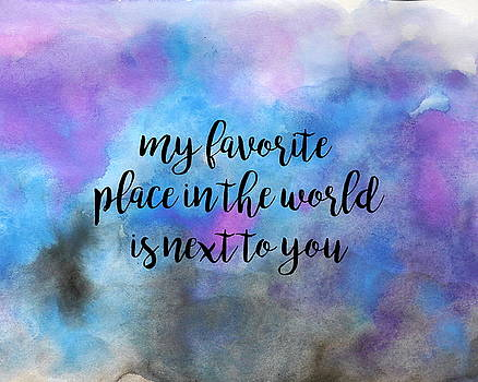 My Favorite Place Pillow by Michelle Eshleman