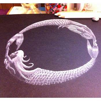 My First Drawing On Black Paper...😁 by Sarah Krafft