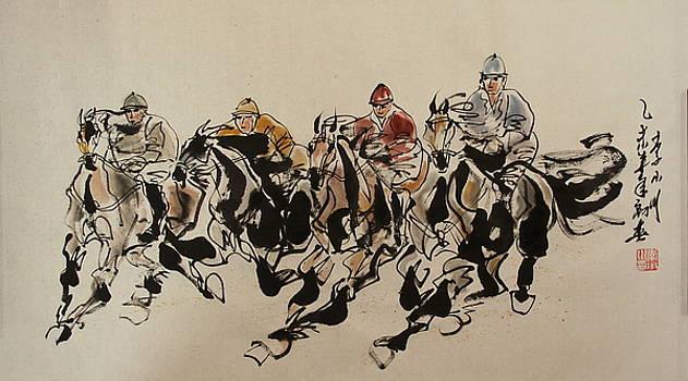 My first horse race  by Xiaochuan Li