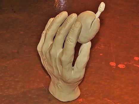 My Hand sculpture WIP by Mario Carta