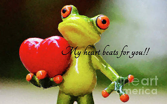 My heart beats for you. by MS  Fineart Creations