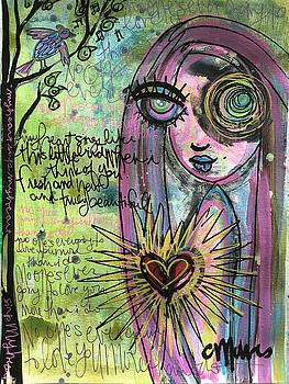 My Heart Sings Like This Little Bird by Laurie Maves ART