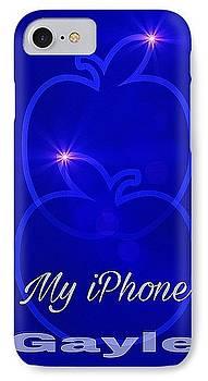 My IPhone N Blue by Gayle Price Thomas