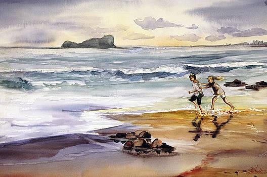 My Kids on the Beach by Shirley Roma Charlton