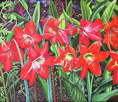 My Lilies Have Bloomed by Suzahn King