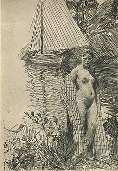 Zorn Anders - My Model And My Boat 1894