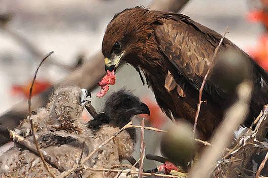 My Mom Feeding Me by Anil Sharma