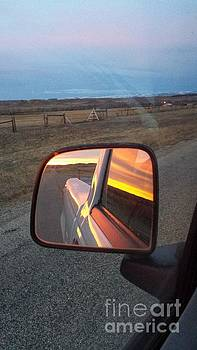 My rear view mirror by Carole Martinez