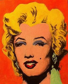 my rendition of Orange Marilyn by Andy Warhol by Aaron Druliner