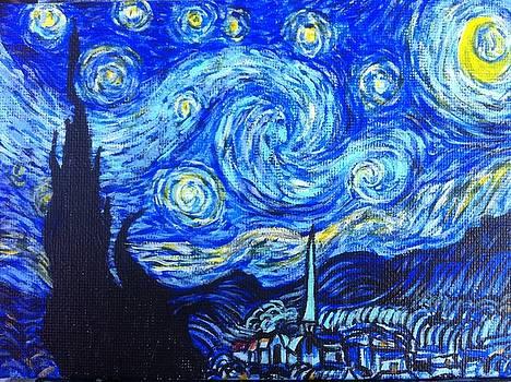 my rendition of Starry Night by Aaron Druliner
