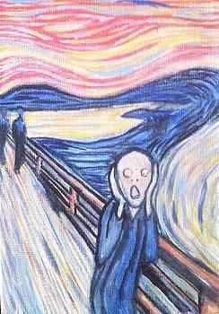 my rendition of The Scream by Aaron Druliner