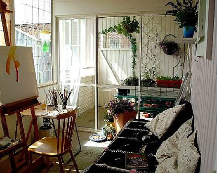 My Summer Studio by Carola Ann-Margret Forsberg