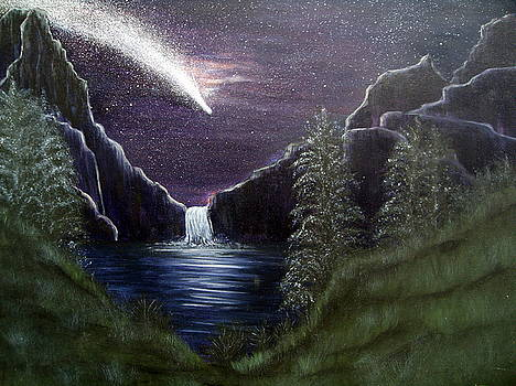 My vision of Haley's Comet by Vivian Cook