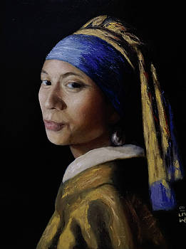 My Wife with a Pearl Earring by Enriqueto Sabio