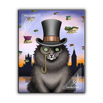 Mycroft the Victorian Cat by Annie Dunn