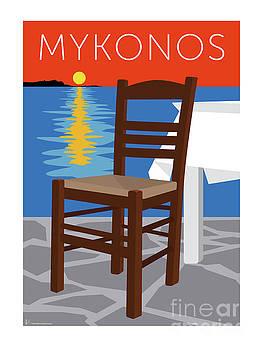 Sam Brennan - MYKONOS Empty Chair - Orange