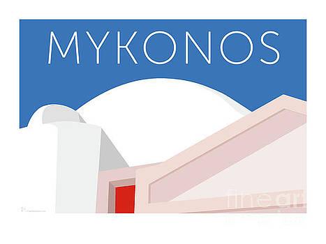 Sam Brennan - MYKONOS Walls - Blue