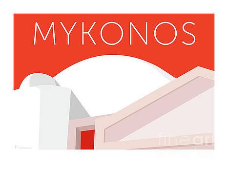 Sam Brennan - MYKONOS Walls - Orange